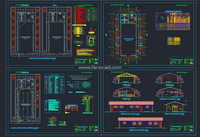 نقشه سوله خرپایی - نقشه سوله سبک - نقشه سوله بتنی - نقشه سوله صنعتی - نقشه سوله سازی
