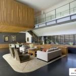 خانه شناور بنایی بسیار زیبا با سبک معماری پایدار ( سبز ) 3