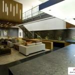 خانه شناور بنایی بسیار زیبا با سبک معماری پایدار ( سبز ) 5
