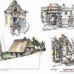 اسکیس در معماری (بهمراه نمونه طرح های دانشجویی) 14