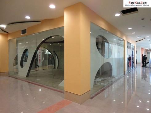 طرح مغازه - نمای مغازه - طراحی داخلی مغازه - ویترین مغازه
