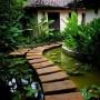 مجموعه 101 عکس محوطه سازی ویلایی و مسکونی ( حیاط ) - طراحی محوطه آلاچیق ، استخر ، سنگ فرش و ... 83