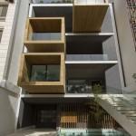 ساختمانی با نما و اتاق های متحرک در تهران ( خانه شریفی ها ) دانلود نقشه های معماری و تحلیل 15