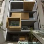 ساختمانی با نما و اتاق های متحرک در تهران ( خانه شریفی ها ) دانلود نقشه های معماری و تحلیل 16