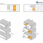 ساختمانی با نما و اتاق های متحرک در تهران ( خانه شریفی ها ) دانلود نقشه های معماری و تحلیل 29