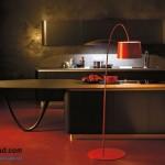 جدیدترین طرح های کابینت آشپزخانه ( ام دی اف و های گلاس ) - مدل کابینت MDF high Gloss 8