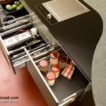 جدیدترین طرح های کابینت آشپزخانه ( ام دی اف و های گلاس ) - مدل کابینت MDF high Gloss 9
