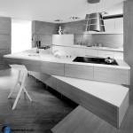 جدیدترین طرح های کابینت آشپزخانه ( ام دی اف و های گلاس ) - مدل کابینت MDF high Gloss 13