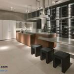 جدیدترین طرح های کابینت آشپزخانه ( ام دی اف و های گلاس ) - مدل کابینت MDF high Gloss 29