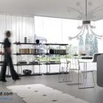جدیدترین طرح های کابینت آشپزخانه ( ام دی اف و های گلاس ) - مدل کابینت MDF high Gloss 37