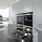 جدیدترین طرح های کابینت آشپزخانه ( ام دی اف و های گلاس ) - مدل کابینت MDF high Gloss 40