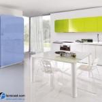 جدیدترین طرح های کابینت آشپزخانه ( ام دی اف و های گلاس ) - مدل کابینت MDF high Gloss 43