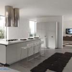جدیدترین طرح های کابینت آشپزخانه ( ام دی اف و های گلاس ) - مدل کابینت MDF high Gloss 44