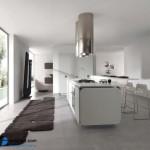 جدیدترین طرح های کابینت آشپزخانه ( ام دی اف و های گلاس ) - مدل کابینت MDF high Gloss 45