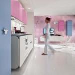 جدیدترین طرح های کابینت آشپزخانه ( ام دی اف و های گلاس ) - مدل کابینت MDF high Gloss 46