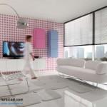 جدیدترین طرح های کابینت آشپزخانه ( ام دی اف و های گلاس ) - مدل کابینت MDF high Gloss 49