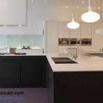 جدیدترین طرح های کابینت آشپزخانه ( ام دی اف و های گلاس ) - مدل کابینت MDF high Gloss 50