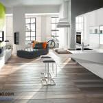 جدیدترین طرح های کابینت آشپزخانه ( ام دی اف و های گلاس ) - مدل کابینت MDF high Gloss 53