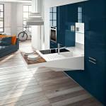 جدیدترین طرح های کابینت آشپزخانه ( ام دی اف و های گلاس ) - مدل کابینت MDF high Gloss 54