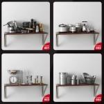 دانلود مجموعه آبجکت های تزئینات آشپزخانه ، حال، پذیرایی و اتاق خواب - Evermotion Archmodels Vol 134 1