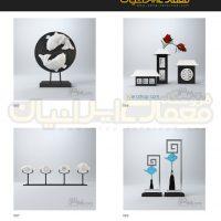 مجموعه 100 مدل وسایل دکوری و تزئینات داخلی منزل ( آبجکت تری دی مکس - vray - متریال و تکسچر ) 3