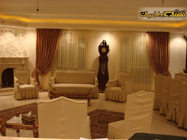 پرده پذیرایی - پرده زبرا - پرده اتاق خواب - طرح دکوراسیون ایرانی - طراحی دکوراسیون پذیرایی